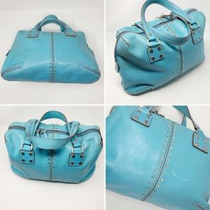 Michael Kors Turquoise Leather Satchel
